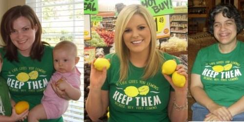 Giveaway: 5 Readers Win Lemon Shirts!
