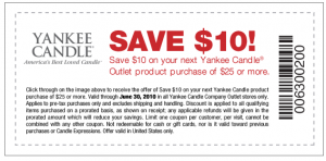photo relating to Yankee Candle Coupon Printable named Yankee Candle Outlet Coupon: $10/$25 Acquire! - Hip2Preserve