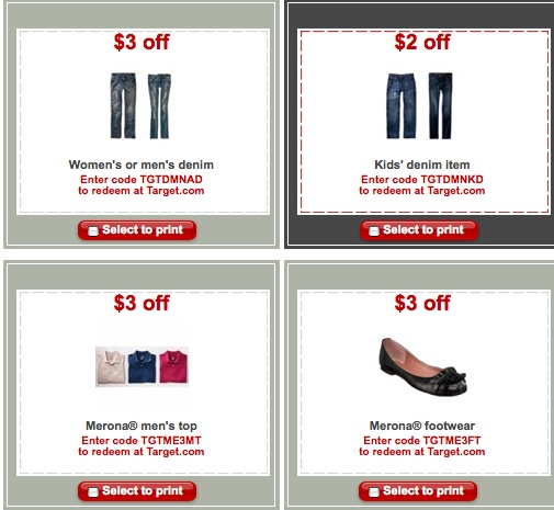 target coupon. are Target store coupons,