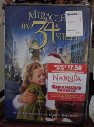 Walmart Stores: Get $7 50 Movie Money With Miracle on 34th