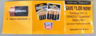 Picture 10 Rite Aid: 10 Pack of Duracell Batteries For As Low As $.24