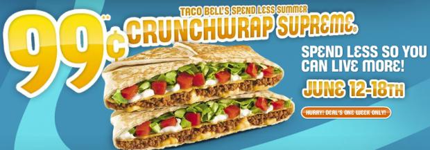 Screen shot 2011 06 12 at 4.56.20 PM 620x217 Taco Bell: Crunchwrap Supreme Just $.99