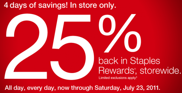Screen shot 2011 07 20 at 10.40.41 AM 620x316 *HOT* Staples 25% Back In Rewards And $100 Off Tablet coupon