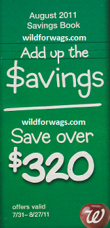 Walgreens August $320 Coupon Booklet