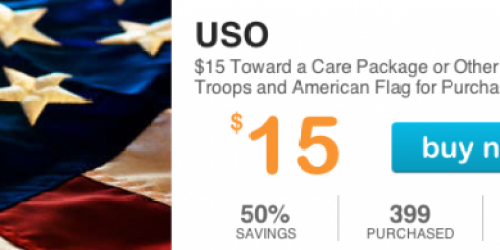 LivingSocial: $15 for a $30 Care Package for a Soldier (AND an American Flag for You!)