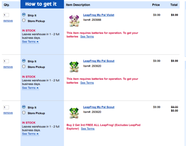 ToysRUs com: *HOT* LeapFrog My Pal Scout or Violet Only $6 66 Each