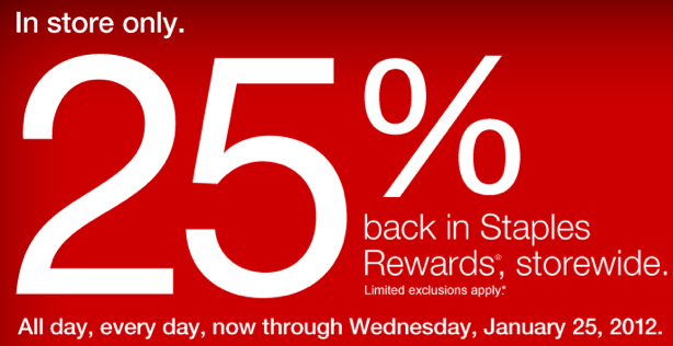 staples deals 1  22-1  28    get 25  back in staples rewards storewide thru 1  25