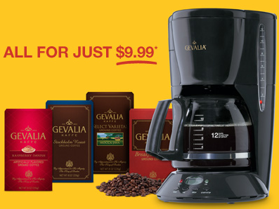 Gevalia Hot Coffeemaker 4 Boxes Of Gourmet Coffee Only 9 99 Free Shipping Hip2save
