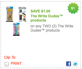 photo regarding School Supplies Coupons Printable named Exceptional $1/2 The Create Dudes Printable Coupon \u003d Excellent Higher education