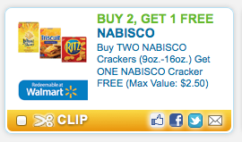 image about Nabisco Printable Coupons named Sizzling* Order 2 Choose 1 No cost Nabisco Crackers Coupon (Nonetheless