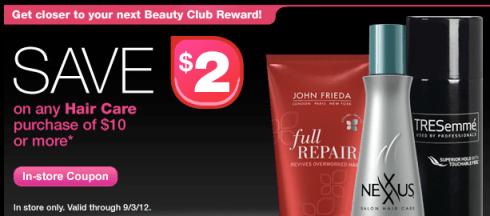 Cvs 2 Off 10 Hair Care Purchase Coupon Deal Scenarios Valid Through 9 1 Hip2save