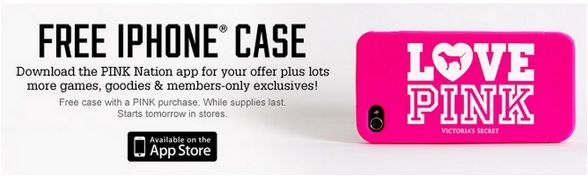cffba6a03a Victoria s Secret  FREE iPhone Case with In-Store PINK Purchase (Starts  8 9) + More