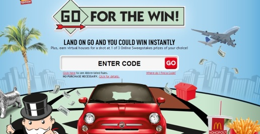 McDonald's Monopoly Instant Win Game & Sweepstakes (LOTS of