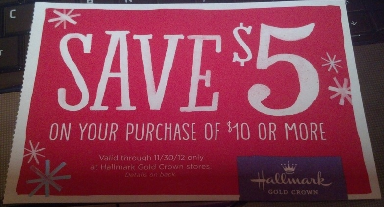 picture relating to Hallmark Printable Coupons referred to as Hallmark Gold Crown: *Incredibly hot* $5 Off $10 Within just-Keep Get