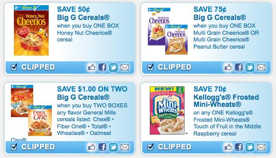 Breakfast/Cereal Product Coupons (+ Philadelphia Indulgence