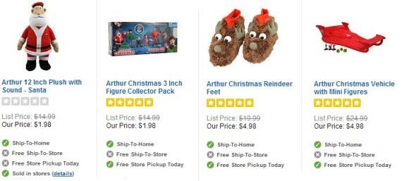 Toys R Us Arthur Christmas Items As Low As 1 82 Shipped Reg 14 99 Hip2save