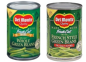 del monte green bean coupons printable