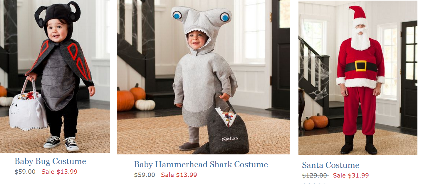 pottery barn kids: costume clearance + free shipping (& possible $10