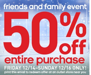 Adidas Outlet Friends & Family Event: 50% Off Your Entire ...