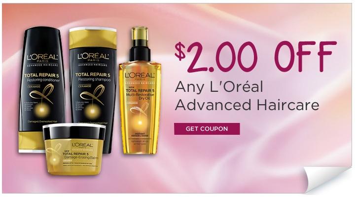 L oreal paris advanced haircare coupons