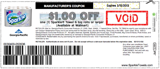 photo regarding Sparkle Coupons Printable named Substantial Really worth $1/1 Sparkle Paper Towels Coupon (Again Once again