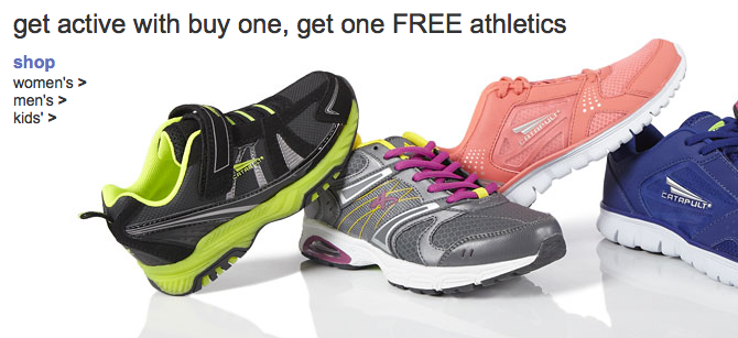 Buy 1 Get 1 Free Sale on Athletic Shoes