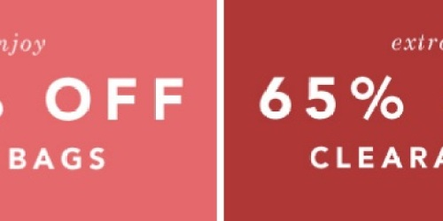 CoachFactoryOutlet.com: Extra 65% Off Already Reduced Clearance + Extra 50% Off All Bags