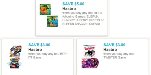 More New Hasbro Game Coupons + Walmart Deals on Twister Rave and Bop It!