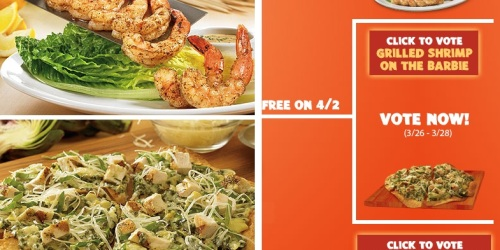 Outback Steakhouse: FREE Appetizer on 4/2 (Vote NOW for Your Favorite)