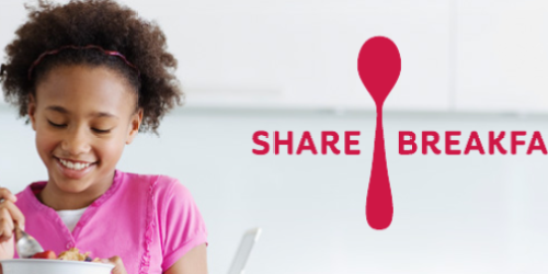 Kellogg's Share Breakfast Promo: Share and Donate Free Breakfast to Children in Need
