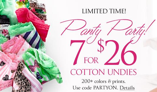 c6d67ffc7ae Victoria s Secret  7 Cotton Panties Only  26 (+ 2 Secret Reward Cards w    10 Purchase thru 3 25!)