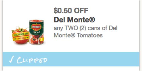 Rare $0.50/2 Del Monte Canned Tomatoes Coupon = Only $0.53 Each at Walmart
