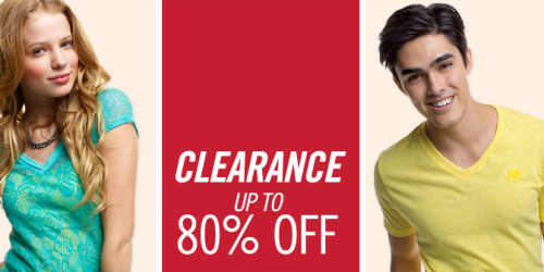 Aeropostale: Up to 80% Off Clearance + Extra 30% Off (+ $20 Aero Card w/ $100 Purchase!)