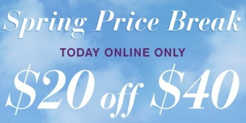 LaneBryant.com: $20 Off a $40 Purchase (Today Only!) + Free In-store Pick-Up = Great Deals