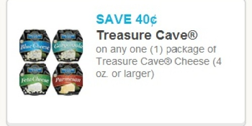 New $0.40/1 Treasure Cave Cheese Coupon = Only $1.18 at Walmart