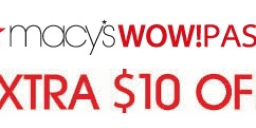 Macy's: $10 Off a $25 Purchase (3/26 and 3/27)