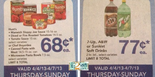 Alberstsons: 4-Day Sale = Great Deals on Hunt's Tomatoes, Eggo Waffles, Soda & More
