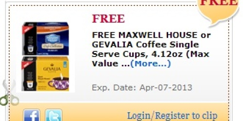 Commissary Shoppers (Military Members): FREE Maxwell House Single Serve Cups Coupon