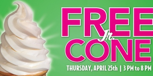 Carvel Ice Cream: Free Jr. Soft Serve Cone from 3PM-8PM (April 25th Only)