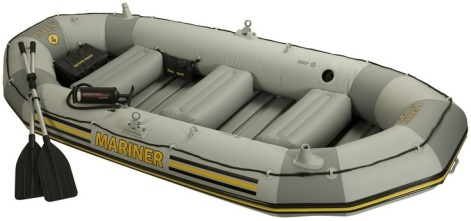 Amazon Intex 4 Person Mariner Inflatable Boat Set Only 199 99