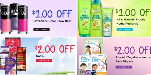 New Rite Aid Coupons: Save on Maybelline Nail Color, Garnier, Natrol, and Tugaboos