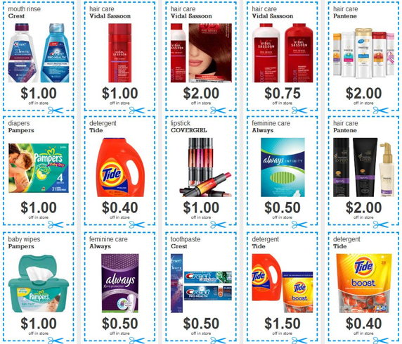 picture relating to Fixodent Coupons Printable titled 15 Fresh new PG Printable Coupon codes (Conserve upon Tide, Pampers