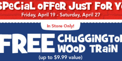 Toys R Us: Possible FREE Chuggington Wood Train Coupon (Check Your Email)