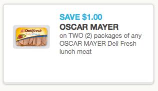New 1 2 Oscar Mayer Deli Fresh Lunch Meat Coupon Target Safeway Deals Hip2save