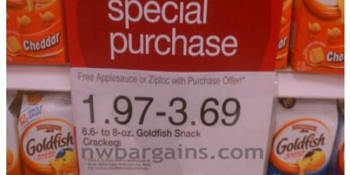 Target: Pepperidge Farm Goldfish and Mott's Applesauce $1.35 Each