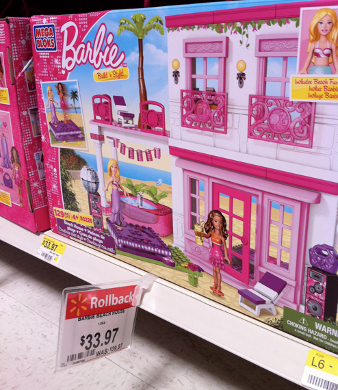 Walmart Mega Bloks Barbie Build N Style Beach House Only