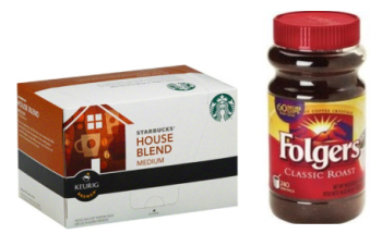 K-cups & Folgers Instant Coffee