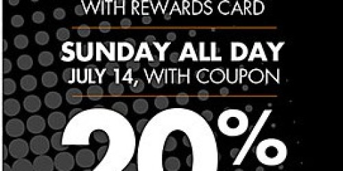 Big Lots: 20% Off Your ENTIRE Purchase (July 13th and 14th Only)