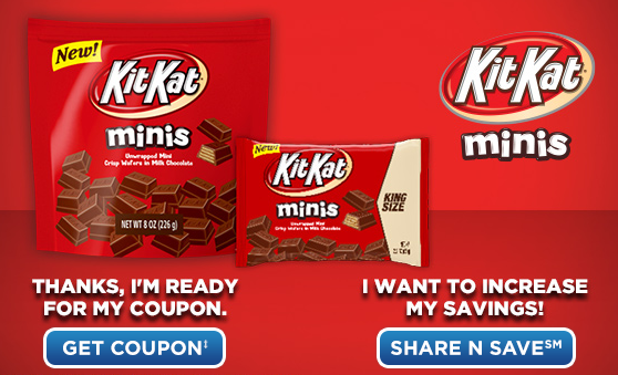 High Value $2.50/1 Kit Kat Minis CVS Store Coupon = Only $0.50 Per Bag Starting 7/7 (Print Coupon Now!)
