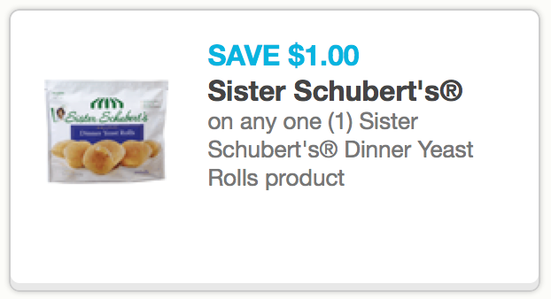 Rare 1 1 Sister Schubert S Dinner Yeast Rolls Coupon Only 2 27